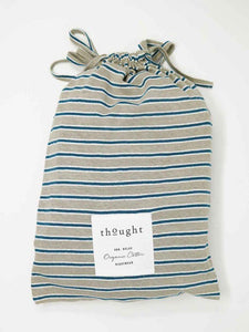 Stripy Hemp Organic Cotton Jersey Pyjama Set Bag