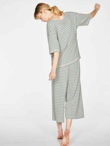 Stripy Hemp Organic Cotton Jersey Pyjama Set Back