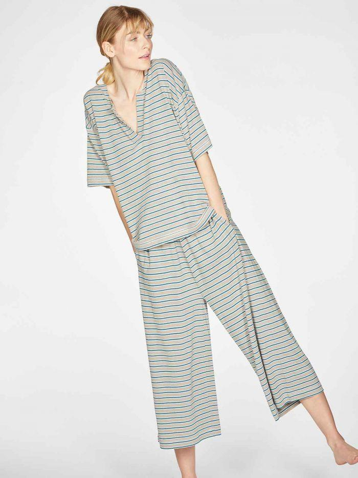 Stripy Hemp Organic Cotton Jersey Pyjama Set