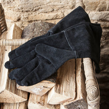 Load image into Gallery viewer, Suede Gauntlet Gloves Black