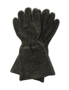 Suede Gauntlet Gloves Black