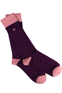 Spotted Pink Bamboo Socks (Size 7-11)