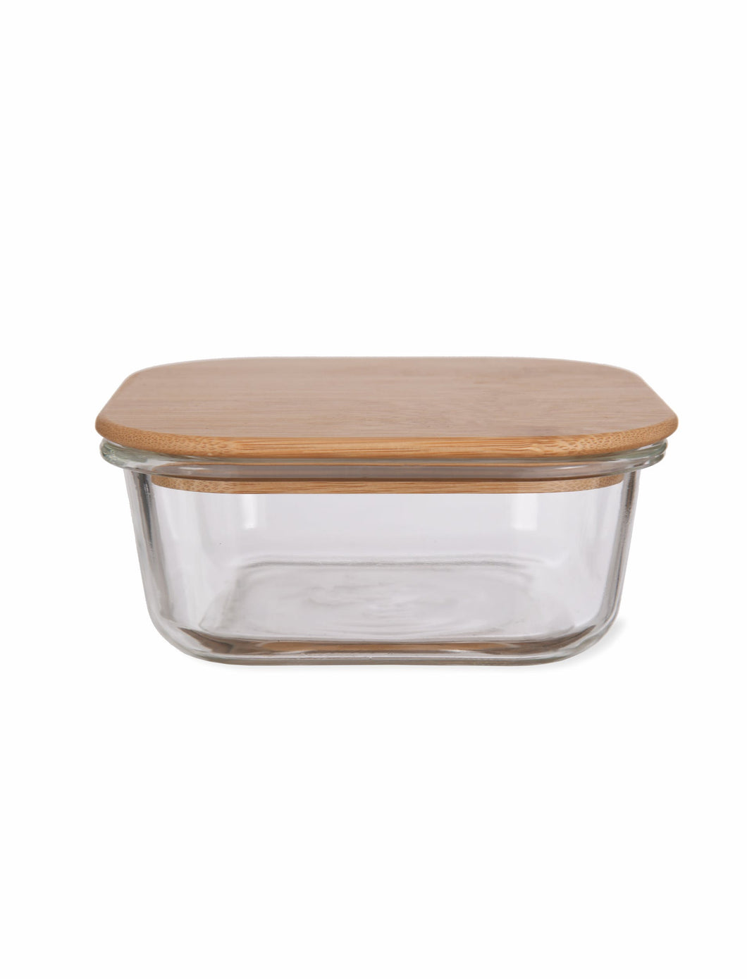 Glass Food Container with Bamboo Lid Medium
