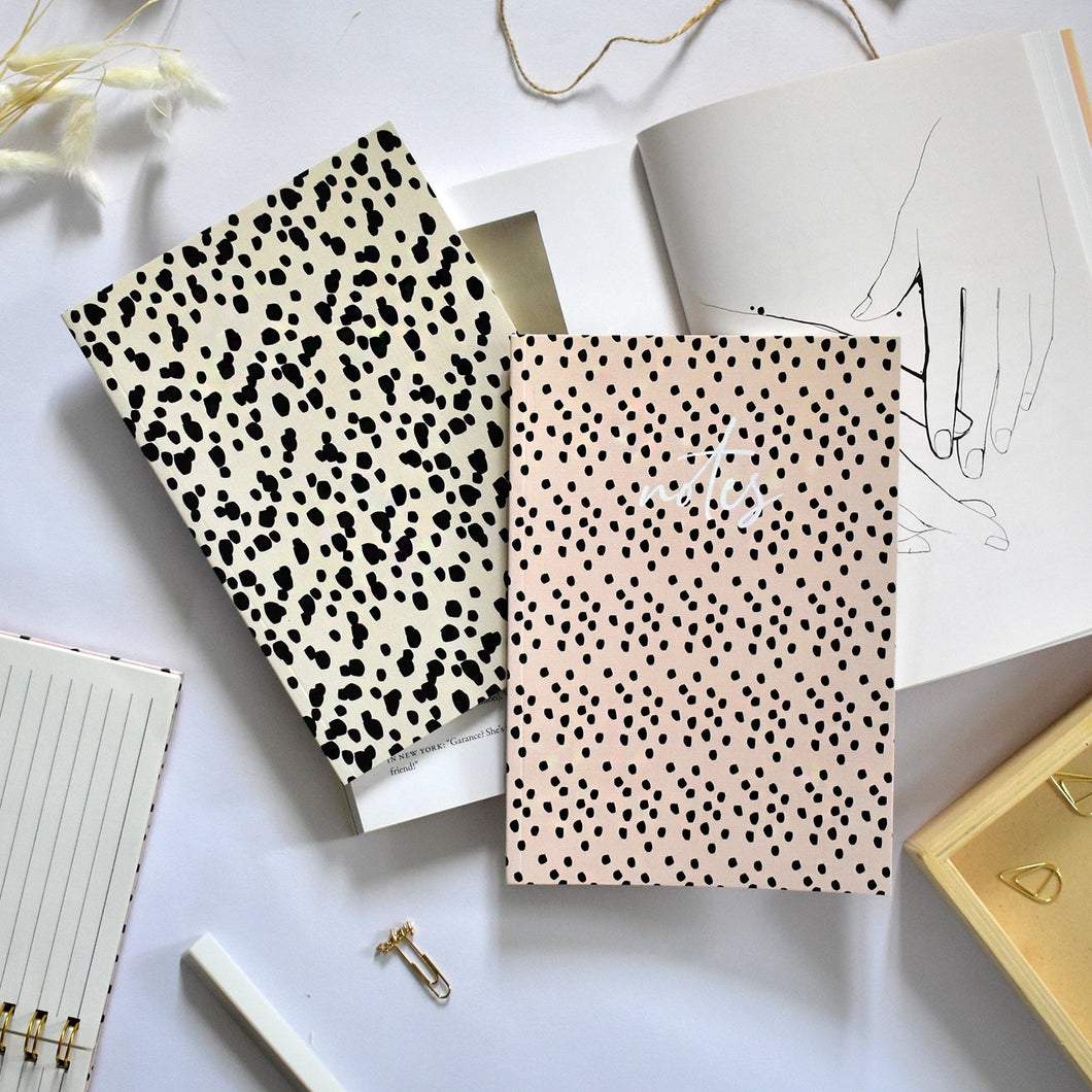 Set of 2 Slim Notebooks Wild Dots