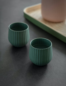 Pair of Ceramic Tumblers in Rosemary
