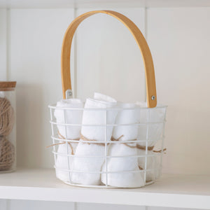 Steel Utility Basket in Lily White