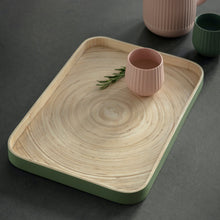 Load image into Gallery viewer, Sage Bamboo Tray