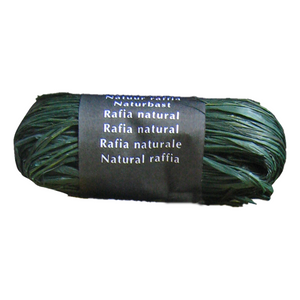 Dark Green Raffia Natural Gift Wrapping Ribbon