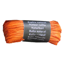Load image into Gallery viewer, Orange Raffia Natural Gift Wrapping Ribbon
