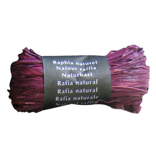 Load image into Gallery viewer, Purple Raffia Natural Gift Wrapping Ribbon