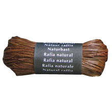 Load image into Gallery viewer, Brown Raffia Natural Gift Wrapping Ribbon