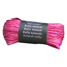 Load image into Gallery viewer, Pink Raffia Natural Gift Wrapping Ribbon