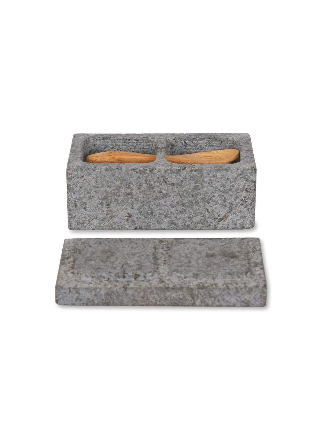 Salt and Pepper Pinch Pot - Granite