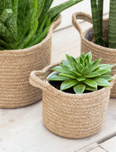 Load image into Gallery viewer, Set of 3 Woven Jute Plant Pots