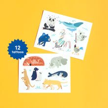 Load image into Gallery viewer, Temporary Baby Animals Tattoos for Kids