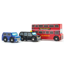 Load image into Gallery viewer, Wooden London Vehicle Set