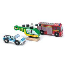Load image into Gallery viewer, Wooden Toy Emergency Vehicle Set