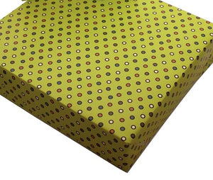 Recycled Wrapping Paper Vintage Retro Yellow Dots