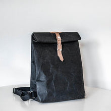Load image into Gallery viewer, Black Waterproof Paper Rucksack