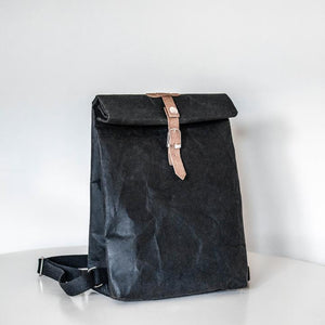 Black Waterproof Paper Rucksack