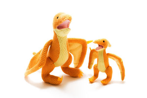 Knitted Pterodactyl Soft Toy both sizes