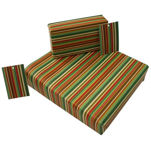 Recycled Christmas Wrapping Paper with Tag - Go Stripey