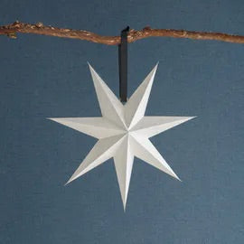 Large Cotton Paper Christmas Star Warm White