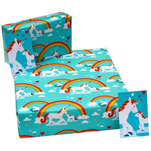 Recycled Wrapping Paper - Unicorns