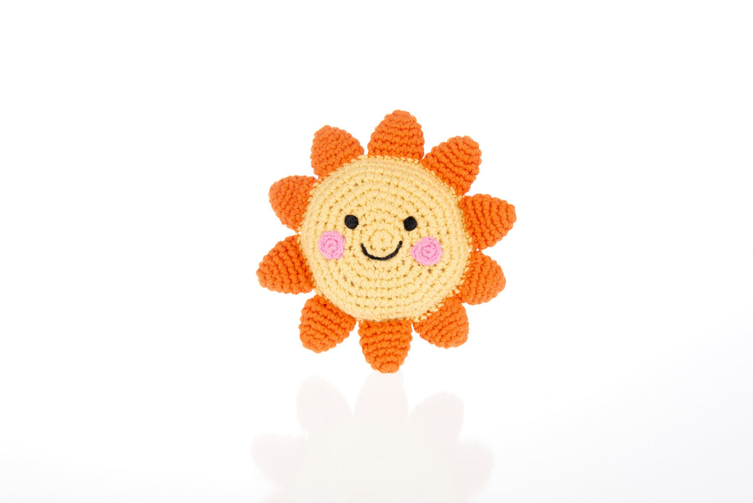 Crochet Fair Trade Sun Baby Rattle