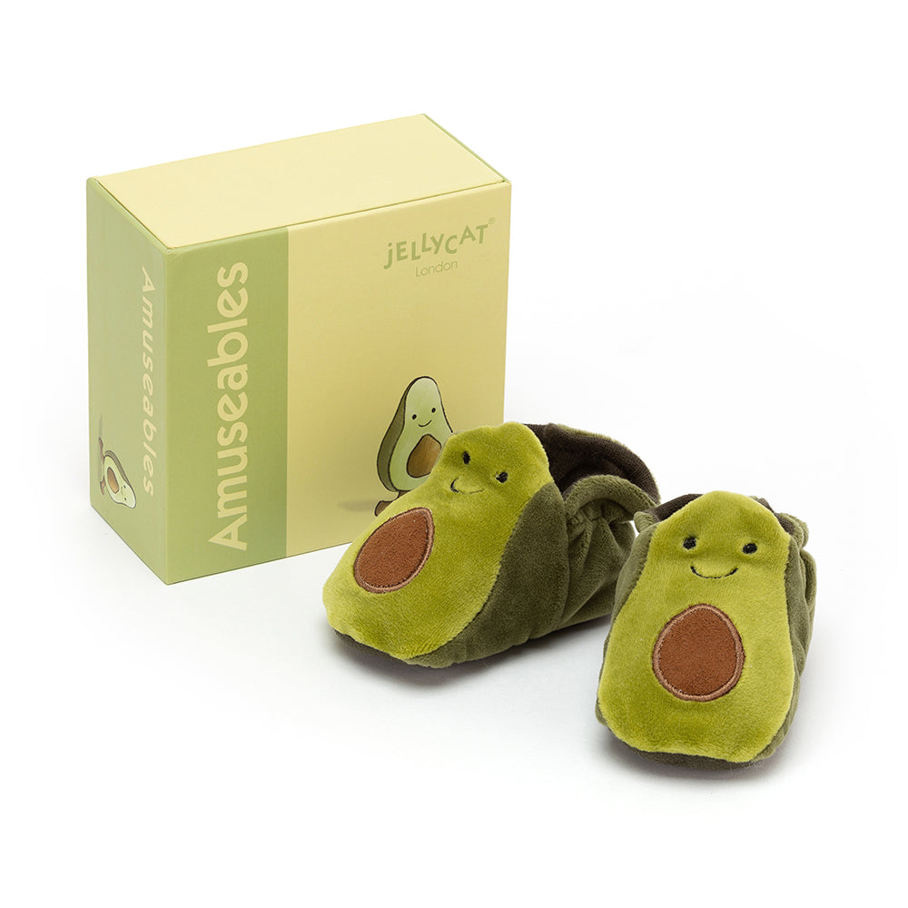Jellycat Amuseable Avocado Baby Booties