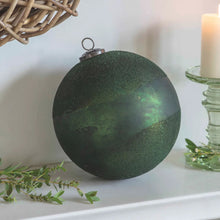Load image into Gallery viewer, Large Recycled Glass Christmas Bauble Green