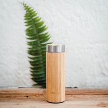 Load image into Gallery viewer, Reusable Bamboo Water Bottle 450ml