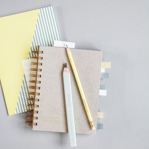 Grey Gold Notebook