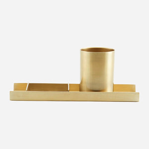 Desk Organiser, Brass