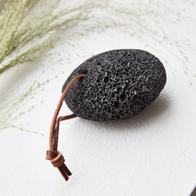 Load image into Gallery viewer, Black Pumice Stone with Suede String