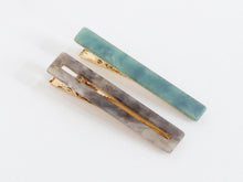 Load image into Gallery viewer, Matte Recycled Resin Hairclips Petra Set of 2