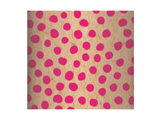 Load image into Gallery viewer, Recycled Kraft Wrapping Paper Roll - Pink Dots