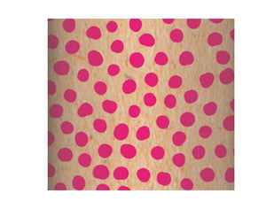Recycled Kraft Wrapping Paper Roll - Pink Dots