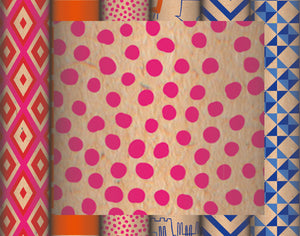 Recycled Kraft Wrapping Paper Collection - Pink Dots