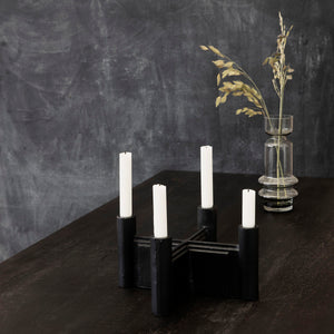 Black Candle Holder for 4 Candles Media 1 of 3