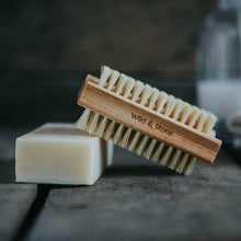 Load image into Gallery viewer, Wooden Nail Brush with Natural Bristles with soap