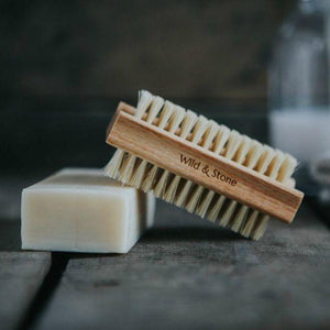 Wooden Nail Brush with Natural Bristles with soap