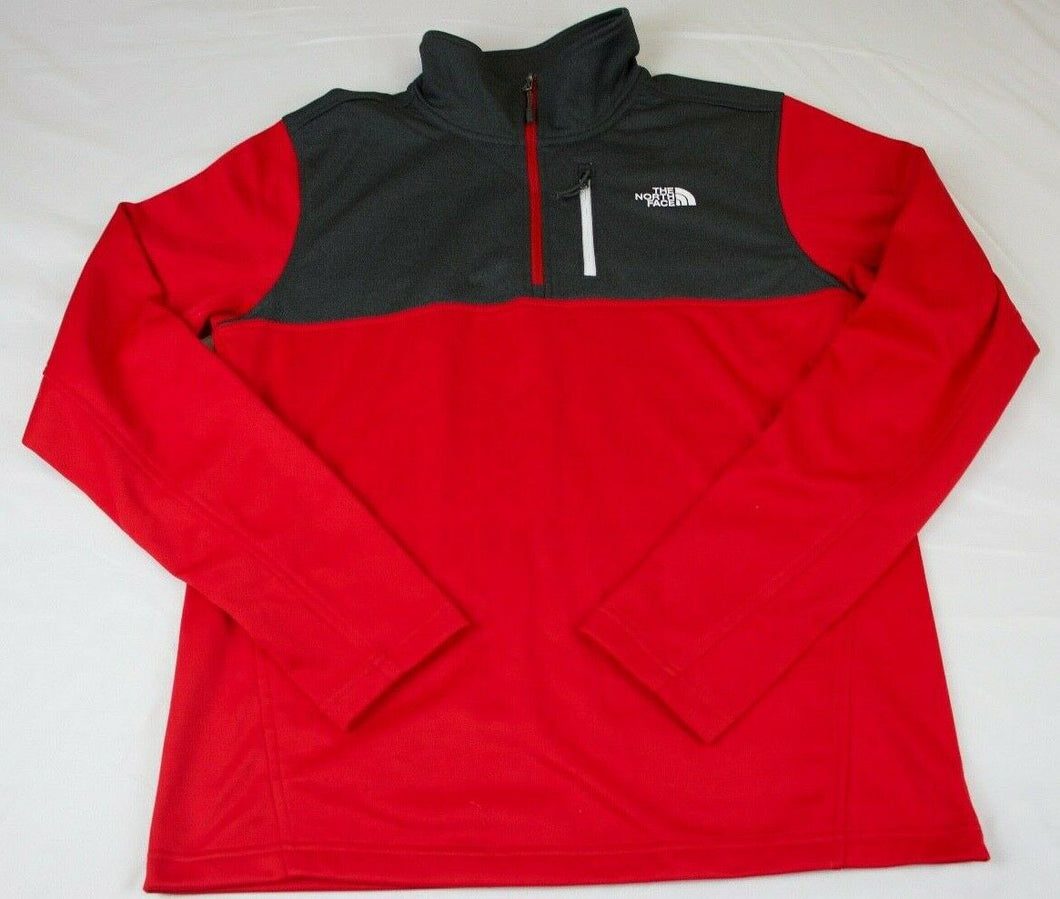 MENS THE NORTH FACE CINDER 1/4 ZIP ATHLETIC PULLOVER/TOP, RED, NWT, FAST SHIP!