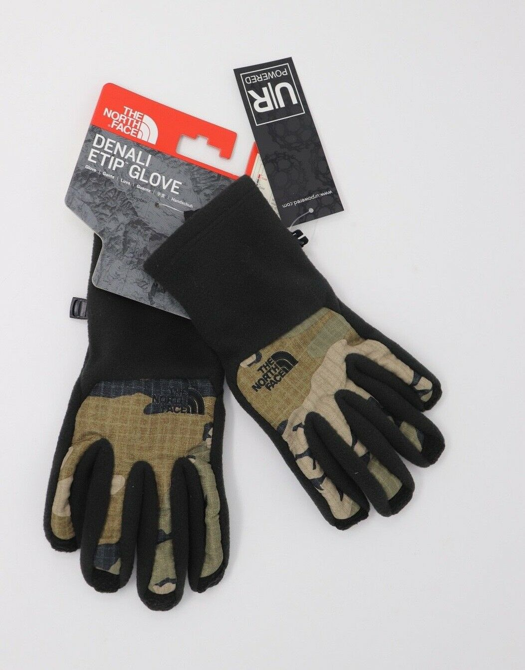 DENALI ETIP™ GLOVES by The North Face CAMOFLAUGE / BLK Small or XL