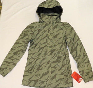 WOMENS THE NORTH FACE RESOLVE RAIN COAT/JACKET, XSMALL, GREEN MOUNTAIN NWT
