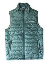 Load image into Gallery viewer, Columbia Men's Small Teal Crested Butte II Omni-Heat Puffer Vest - NEW WITH TAGS