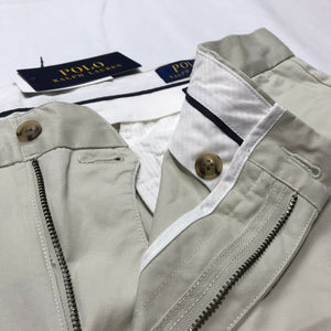 Men's Polo Ralph Lauren Stretch Classic Fit Chino Shorts (Basic Sand, sz 36) NWT