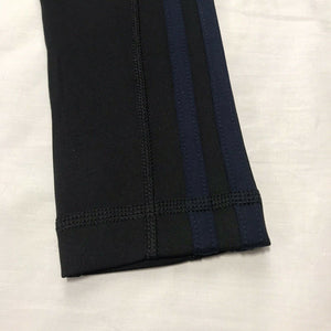 Women's Adidas Climalite 3 Stripe Tight Black With Navy Stripe Small NWT