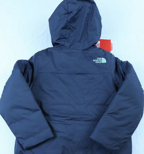 GIRLS THE NORTH FACE PERRITO REVERSIBLE JACKET, HOODED, GREY/TEAL,XXS (5), NWT!