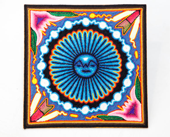 Nierika Sun: Yarn Painting 12